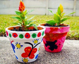 Paint and plant your own flower pot at Flinchbaugh's Orchard & Farm Market