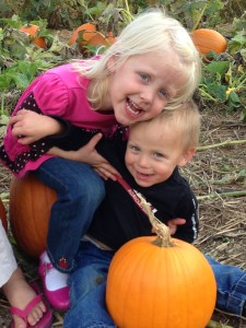 Lexie & Lyle in the Pumpkin Patch