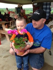 Planting a flower pot