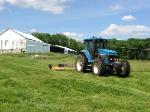 Maintaining grass waterways during the season